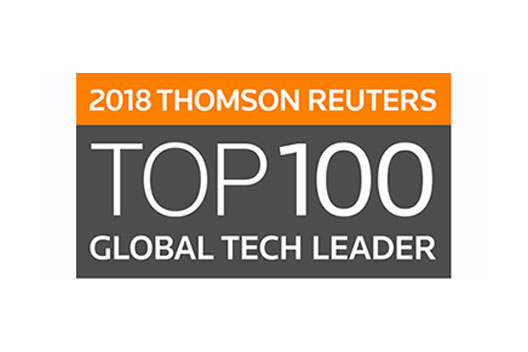 [Logo]2018 THOMSON REUTERS TOP 100 GLOBAL TECH LEADER