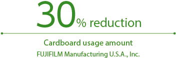 [Figure]30% reduction Cardboard usage amount