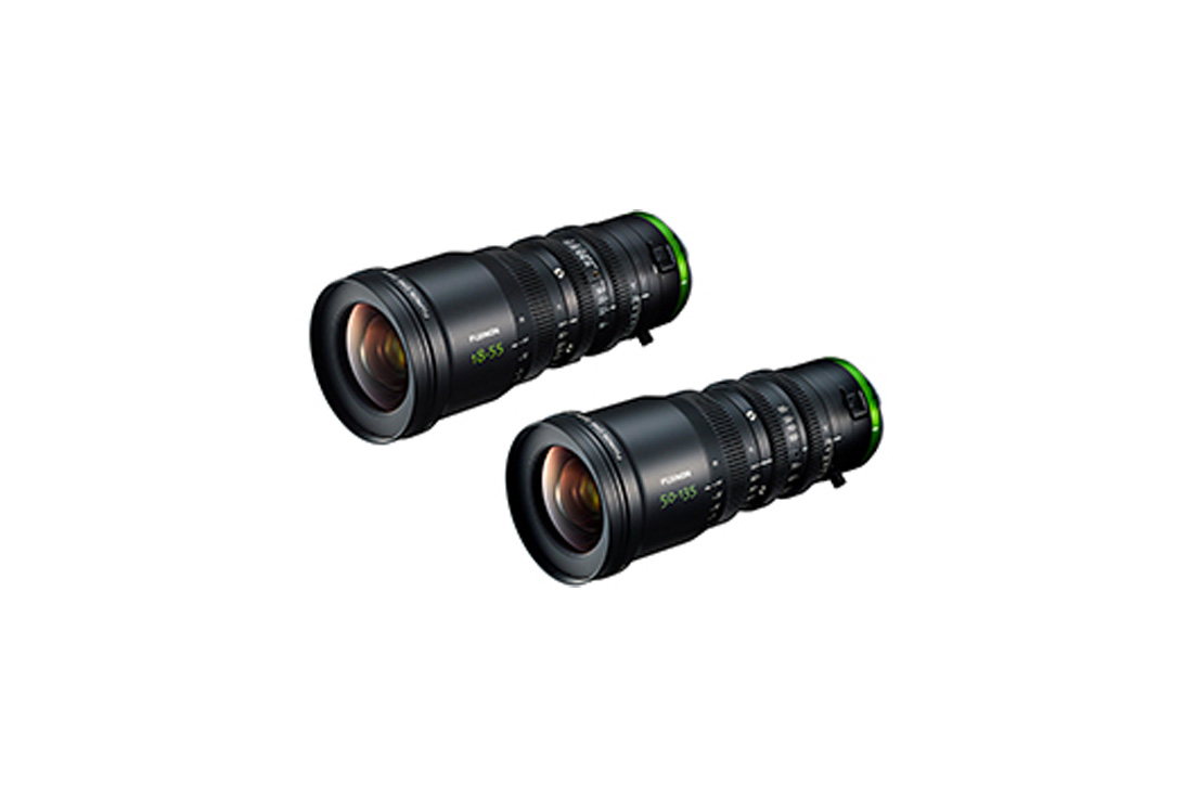 "[Photo]Cine lenses ""FUJINON MK18-55mm T2.9"" and ""FUJINON MK50-135mm T2.9"""