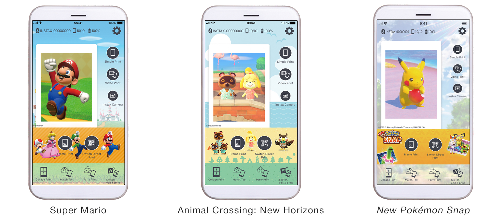 [image]App design(Super Mario, Animal Crossing: New Horizons, New Pokémon Snap)
