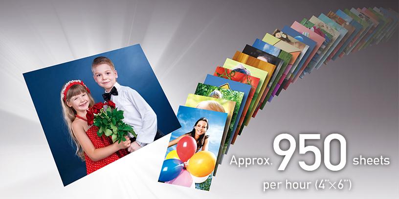 """Aprox. 950 hojas por hora (4""""x6"""")"""