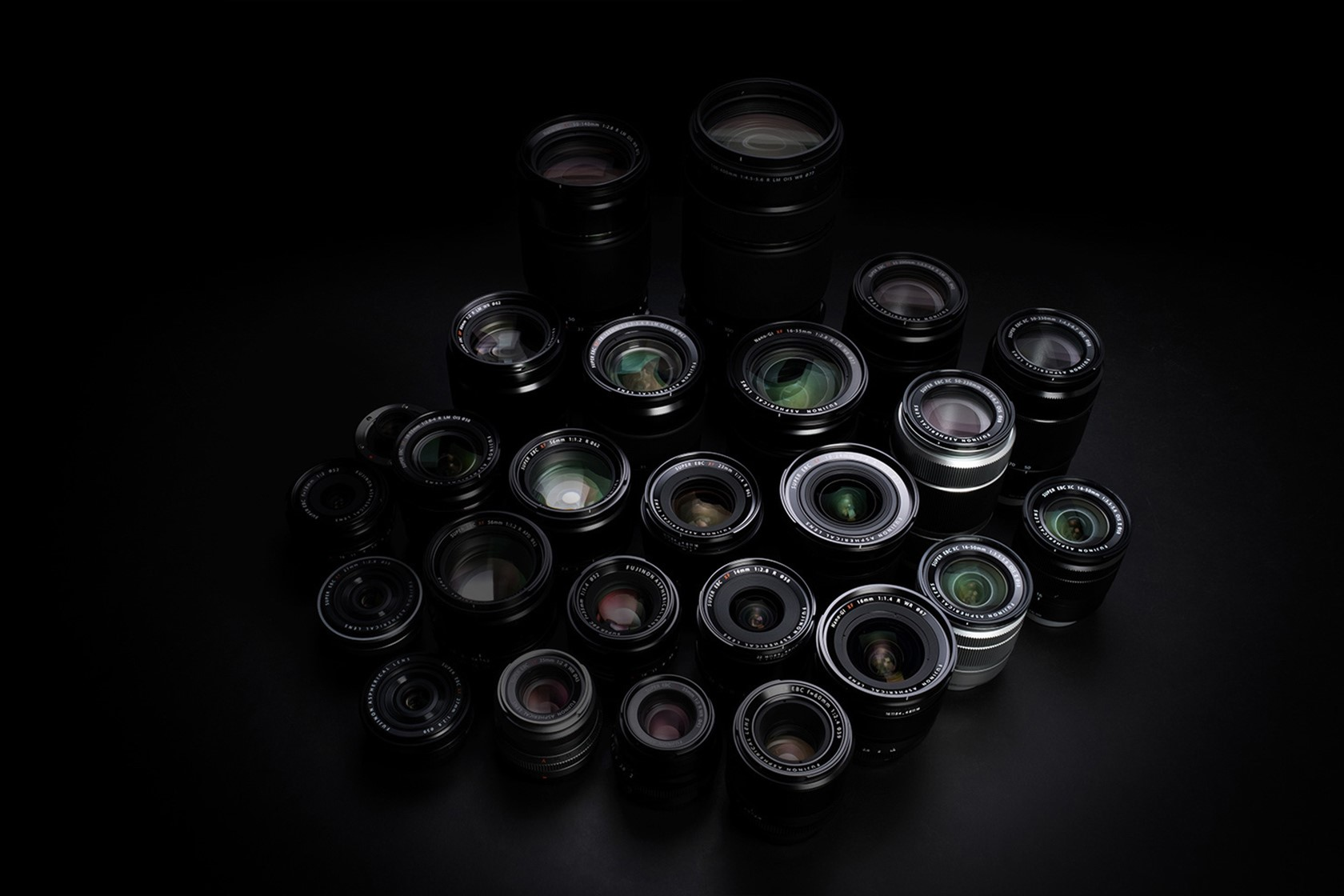 [photo] An assorted collection of Fujinon lenses