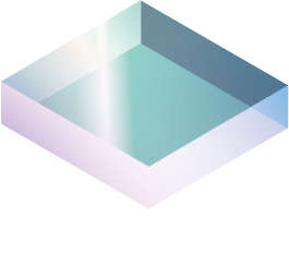 [image] Cut-out square of glass material drawing