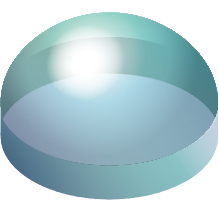 [image] Cut-out sphere of glass material drawing