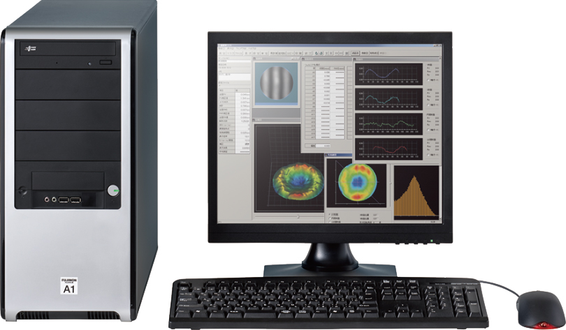 [photo] Desktop computer with Fringe Analysis System software on screen