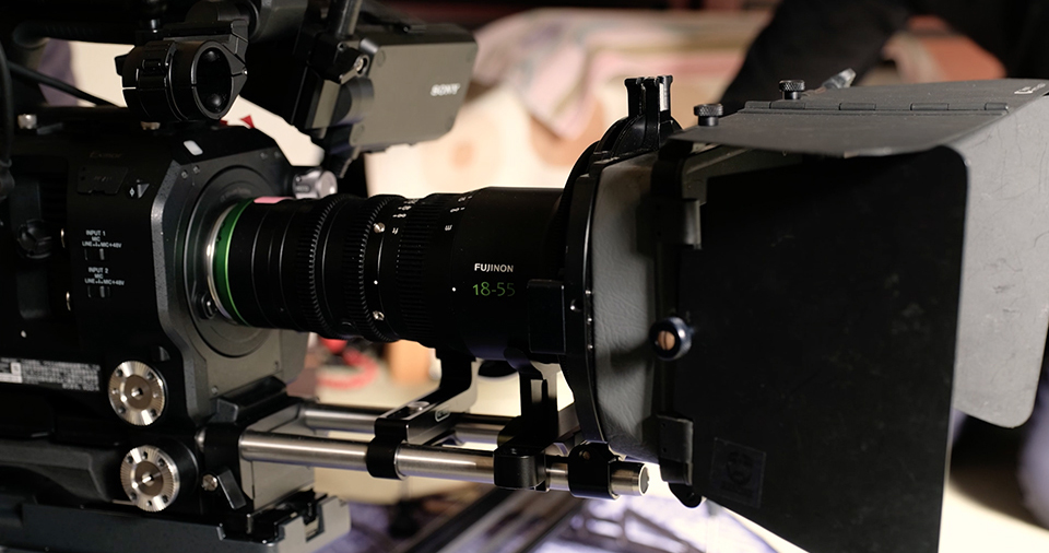 [photo] A close up view of the Fujinon 18-55mm MK Lens