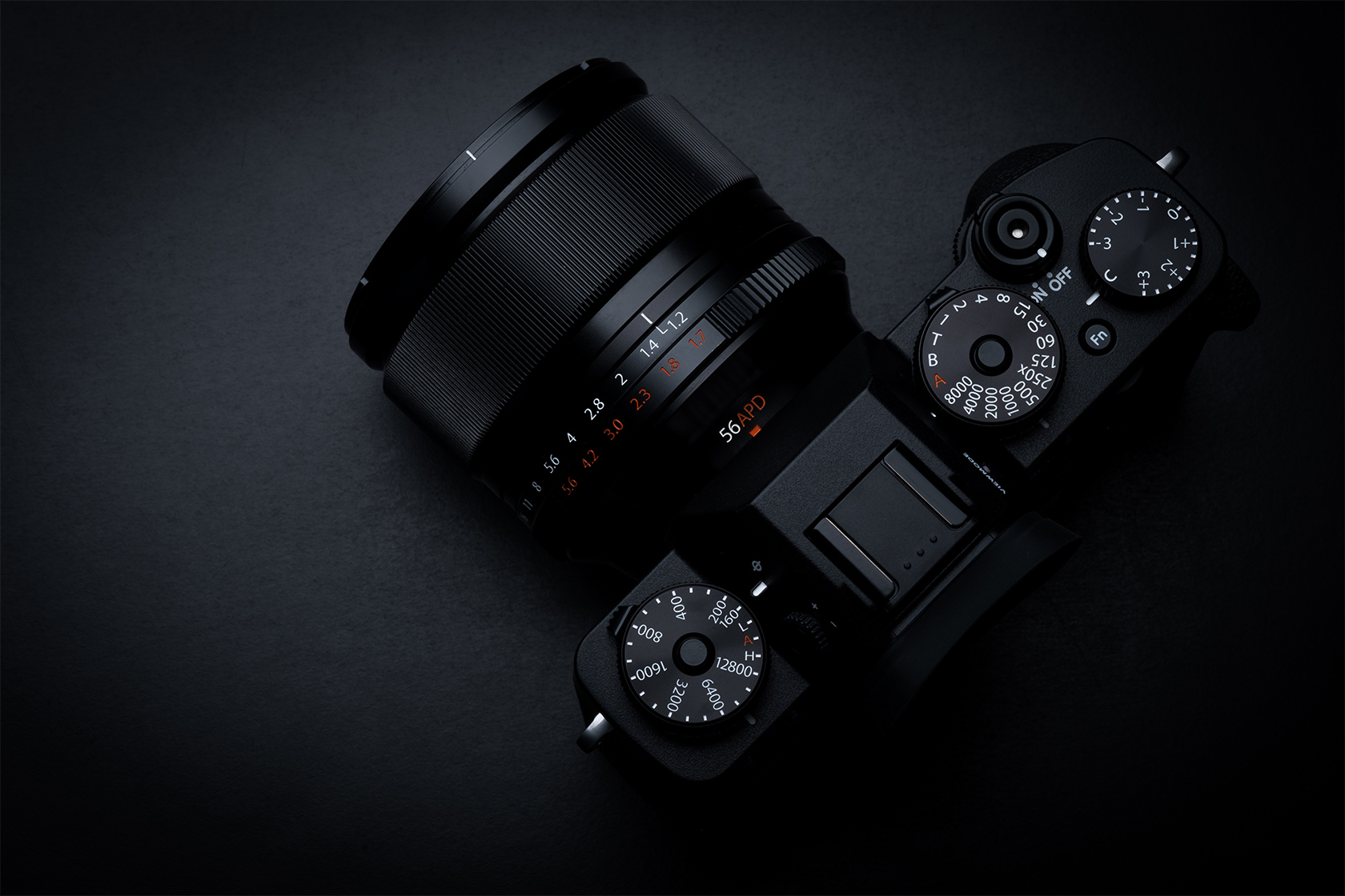 [photo] Over the top view of a Fujifilm X System Digital Camera
