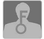 """alt=""""[image] Close-up van het silhouet van een man met een grote sleutel in het midden"""