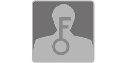 [Bild] Nahaufnahme der Silhouette eines Mannes mit einem großen Schlüssel in der Mitte