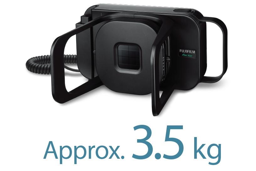 [foto] Zwart FDR Xair-apparaat, met een gewicht van ongeveer 3,5 kg