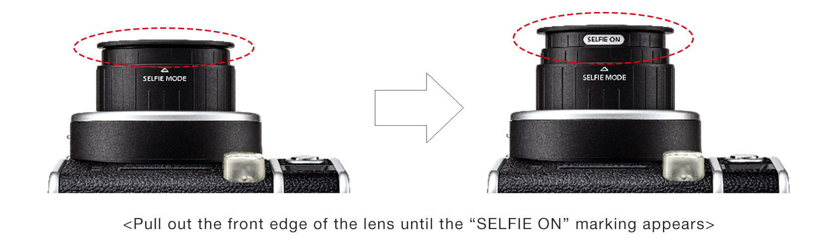 "[Image]""Selfie Mode"" for taking selfies and close-ups with ease"