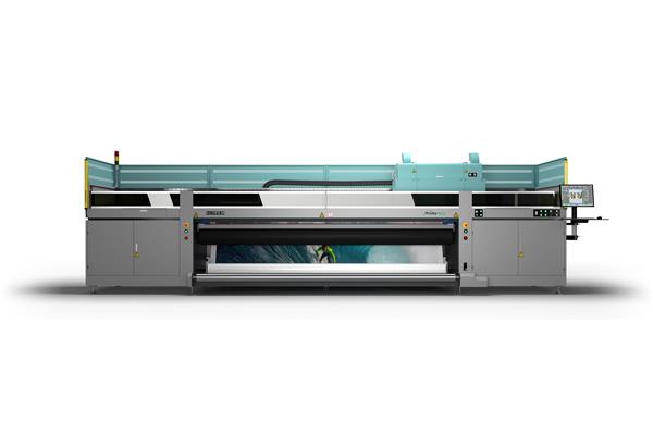 [foto] Vista lateral completa del sistema de inyección de tinta UV de gran formato de tamaño industrial