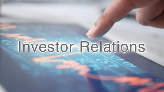 [pancarta] Relación con los inversores