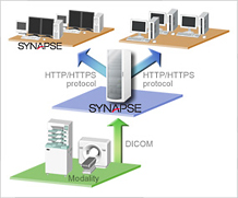 [image] Synapse archiving and distribution of image information, managed with single system