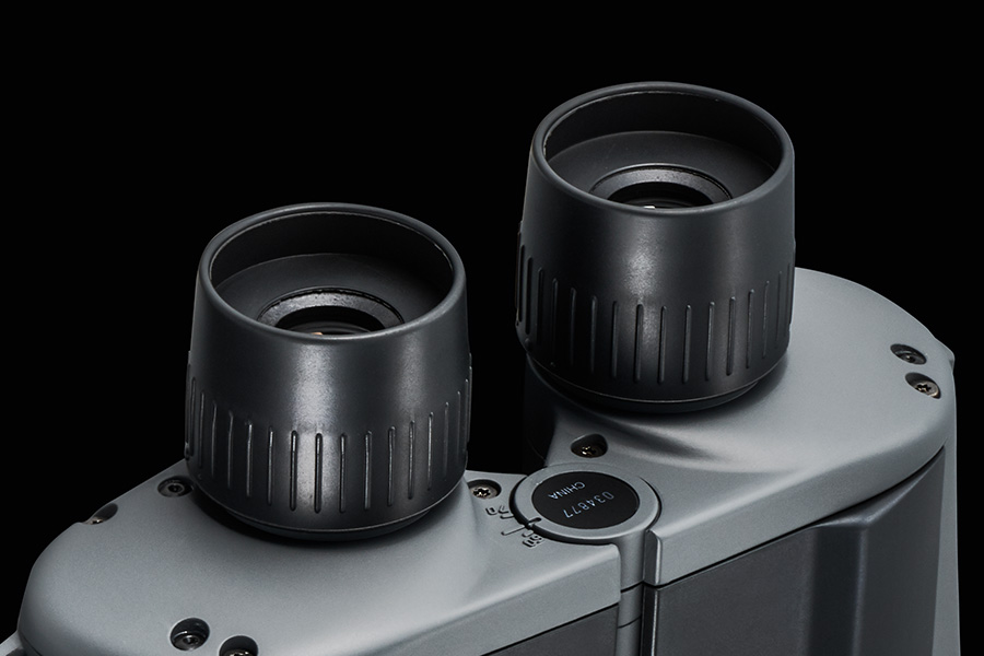 [photo] Close up of the long eye relief design on the Mariner Series Binoculars