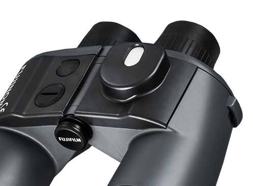 [photo] Close up of the High Precision Built-In compass of the Mariner Series Binoculars