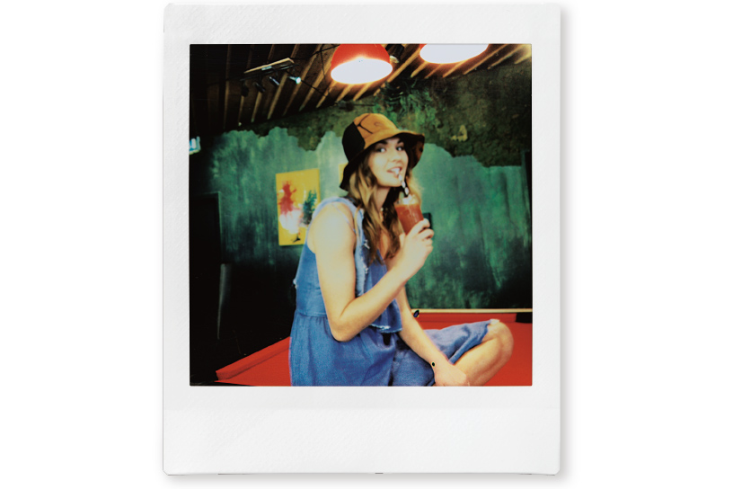 Image of a photo of a woman drinking