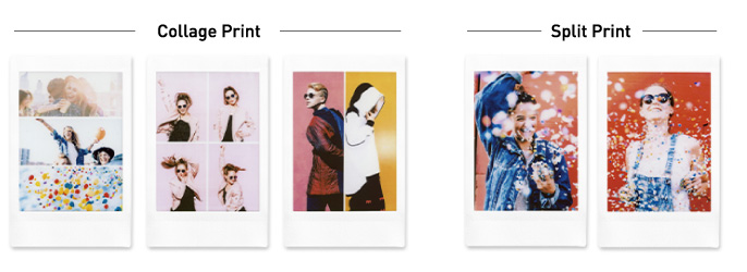 image of pictures showing collage print and split print