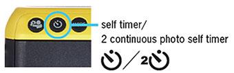Imagem ampliada do modo temporizador automático da câmera mini 70