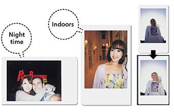 Colagem de imagens mostrando o recurso de flash de preenchimento