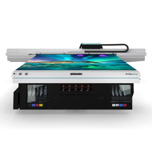 Visão da parte traseira da impressora LED 40