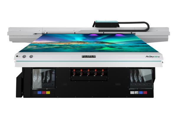 Visão frontal da impressora LED 40