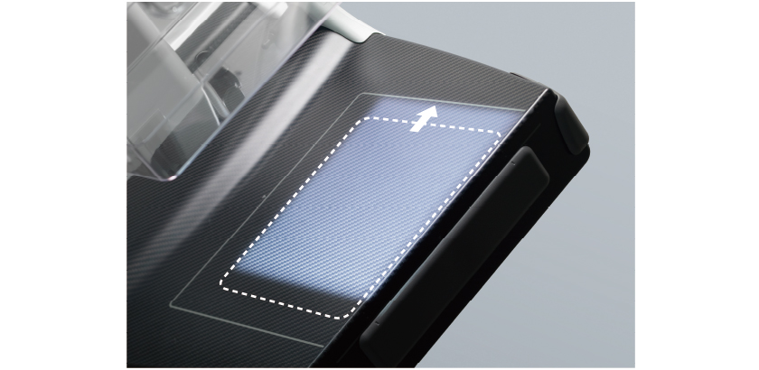[foto] Visão ampliada superior da pá de compressão de deslocamento de 24 x 30 cm do Amulet Harmony