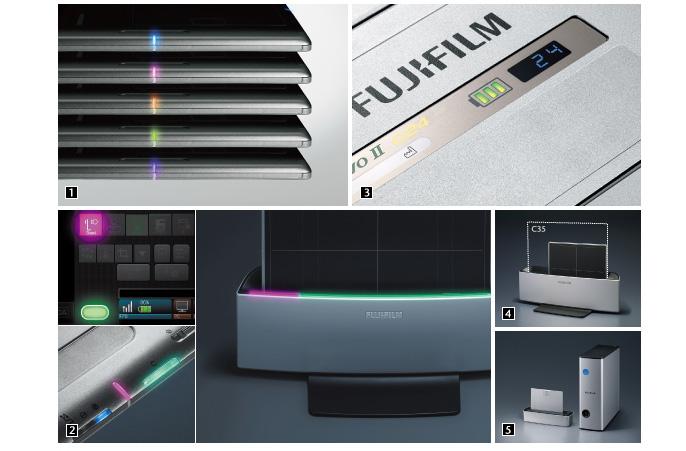 [foto] Luzes de LED, console e estação de acoplamento para o C24