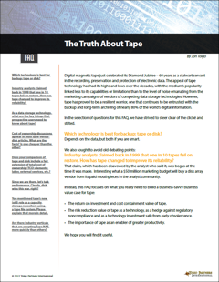The Truth About Tape