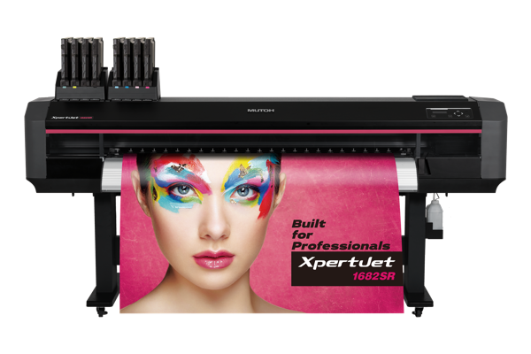 Mutoh Valuejet printing photograph of woman