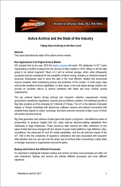 Active Archive and the State of the Industry