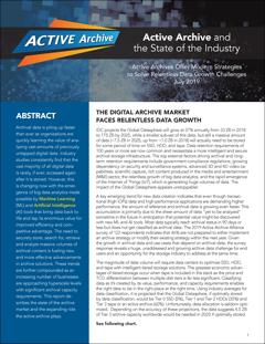 Arquivo ativo e o estado da indústria