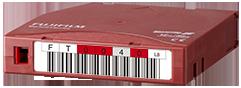 Código de barras do cartucho de dados LTO Ultrium 8