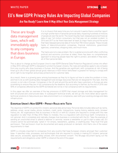 Novas normas de privacidade do RGPD da União Europeia estão afetando empresas globais