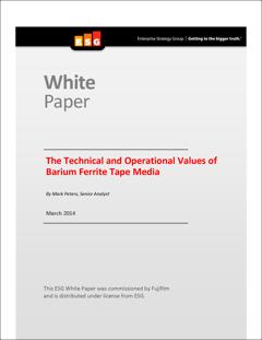 Os valores técnicos e operacionais da mídia em fita de ferrita de bário