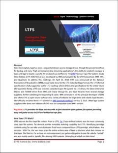 LTFS - Impulsionando a transformação das fitas