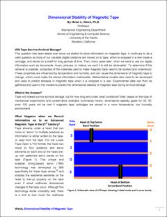 Estabilidade dimensional de fita magnética