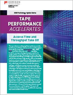 Tape Performance Accelerates