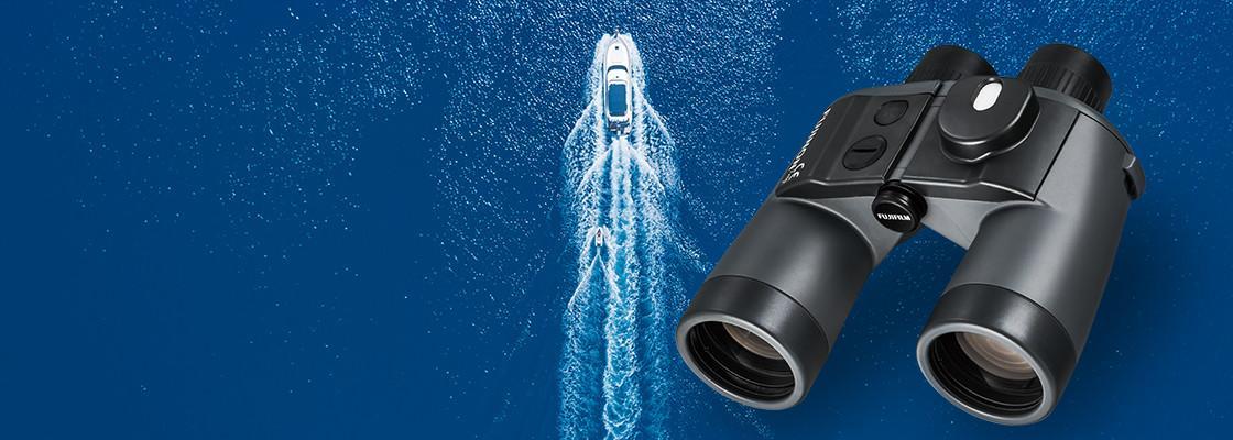 Banner image of Mariner Series binoculars over image of water