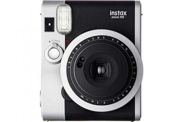 Câmera Mini 90 preta e prata