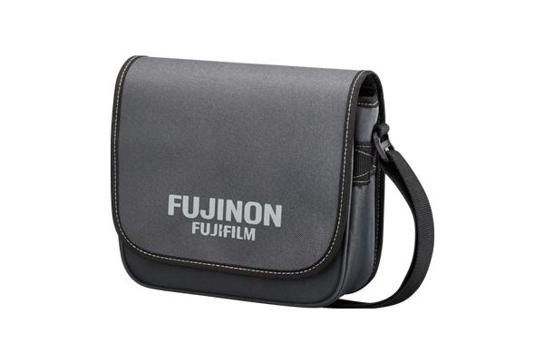 [photo] A Fujinon Fujifilm branded Carry Case in gray for the FMT/MT Series binoculars