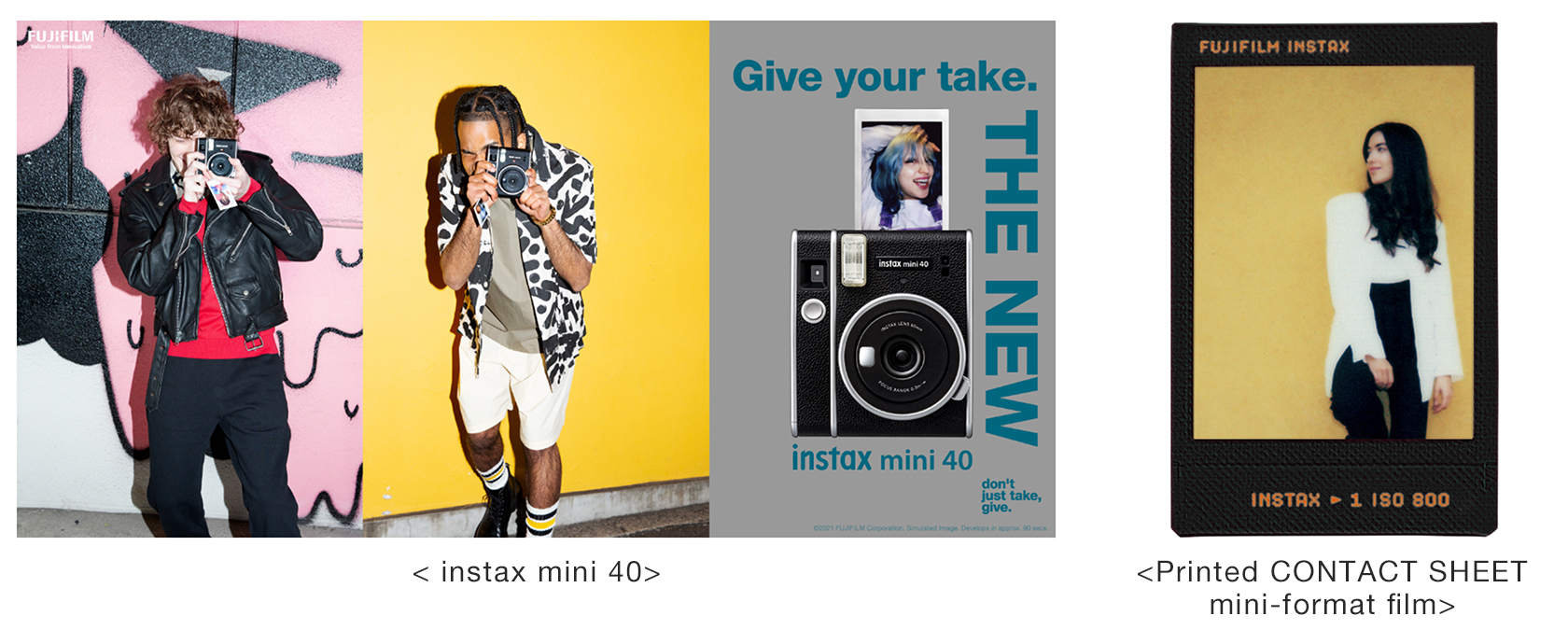 [Image]instax mini 40 / Printed CONTACT SHEET mini-format film