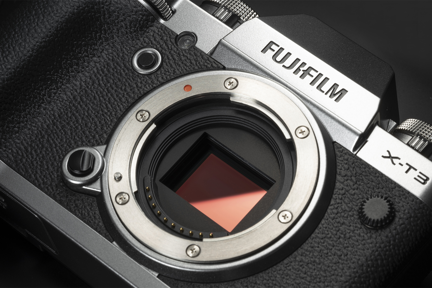 Zoomed in image of X-T3 camera