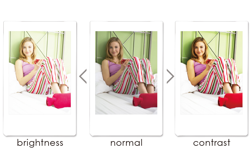 Collage d'images avec différents filtres personnalisés