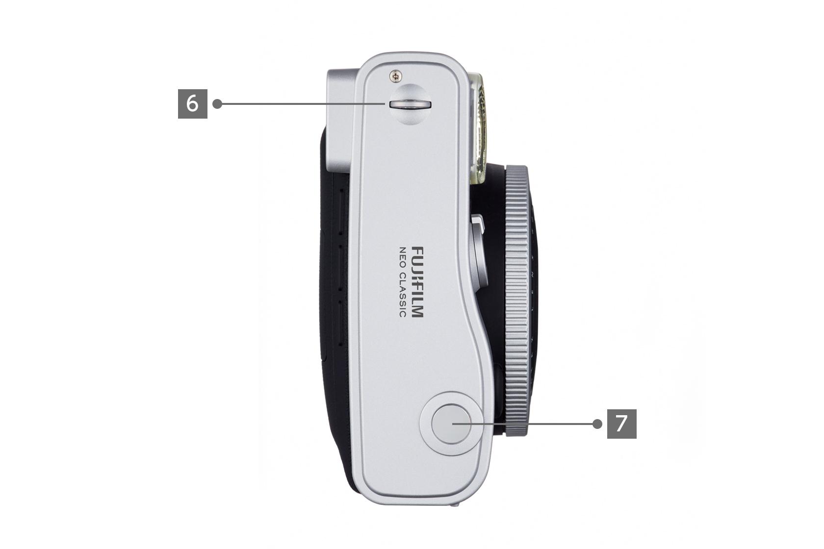 Side View of black Mini 90 camera