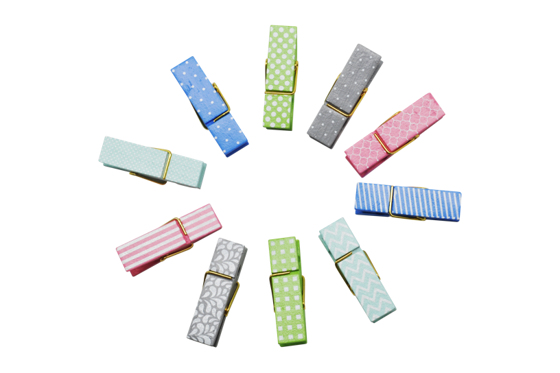 Different color of Decorative Pegs