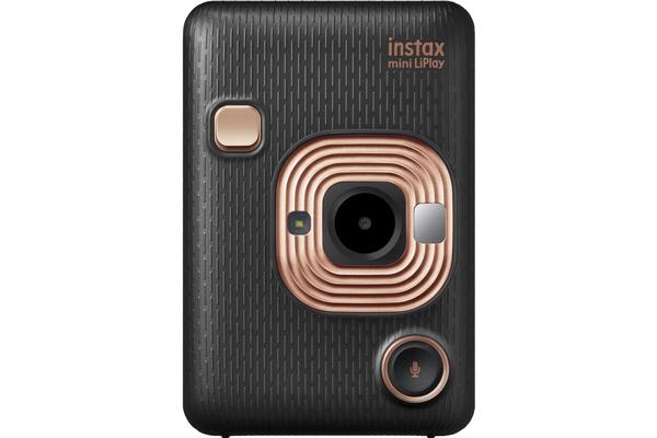[photo] Instax mini LiPlay in Elegant Black on a white background