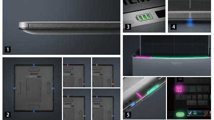 [photo] LED status displays for different functions of machine