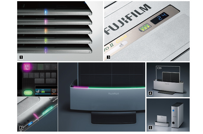 [photo] LED lights, console, and docking station for the C24