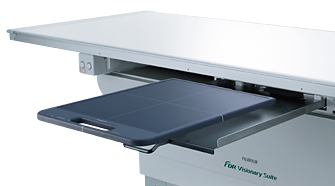 [photo] X-ray table with D-EVO panel sticking out of built in charging slot